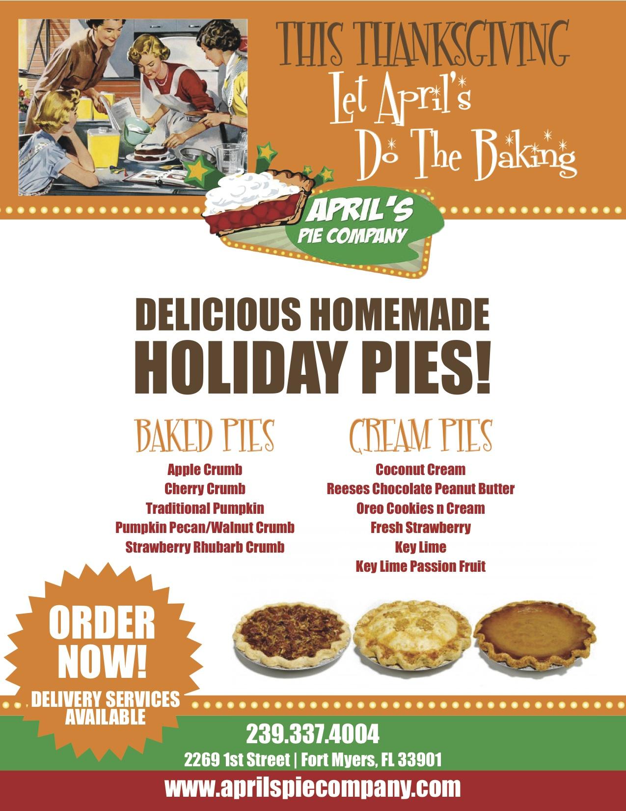 Order Form Dessert Pie Word Template